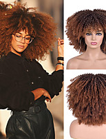 cheap -Hair Afro Kinky Curly Wigs With Bangs For Black Women African Synthetic Omber Glueless Cosplay Wigs High Temperature