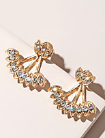 cheap -Women's Stud Earrings Classic Petal Vintage Modern Cute Sweet Earrings Jewelry Gold For Party Gift Daily Prom Club 1 Pair