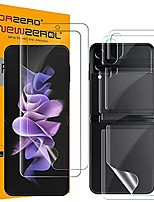 cheap -(upgraded version)  2 sets soft tpu screen protector compatible for samsung galaxy z flip 3 5g, premium quality edge to edge (full coverage) high definition bubble-free (lifetime replacement)