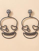 cheap -Women's Drop Earrings Earrings Retro Skull Fashion Vintage European Earrings Jewelry Black For Halloween 1 Pair