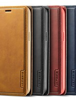 cheap -Phone Case For Apple Full Body Case Leather iPhone 13 iPhone 13 12 Pro Max 11 SE 2020 X XR XS Max 8 7 6 iPhone 12 iPhone 11 iPhone 6s Plus / 6 Plus iPhone 6s / 6 Wallet Card Holder Shockproof Solid