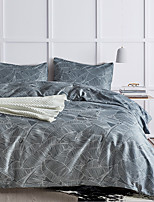 cheap -3-Piece Feather Printed Duvet Cover Set Hotel Bedding Sets Comforter Cover, Include 1 Duvet Cover, 2 Pillowcases for Queen/King(1 Pillowcase for Twin/Single)