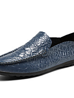 cheap -Men's Loafers & Slip-Ons Chinoiserie Daily Cowhide Royal Blue Black Brown Fall Spring