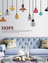cheap -colorful chandelier wall decoration stickers cartoon background stickers wall stickers nordic ins style living room bedroom