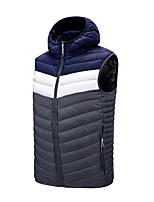 cheap -Men's Vest Daily Fall Winter Regular Coat Zipper Stand Collar Regular Fit Windproof Warm Casual Jacket Sleeveless Solid Color Pocket Blue Wine Gray