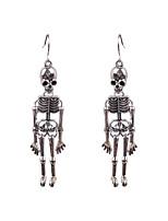 cheap -Women's Drop Earrings Earrings Vintage Style Skull Simple Fashion European Earrings Jewelry Bronze / Silver For Halloween 1 Pair