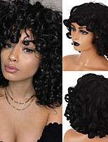 cheap -Synthetic Wig Curly Side Part Wig Short A1 A2 A3 A4 A5 Synthetic Hair Women's Cosplay Soft Party Black Brown