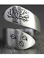cheap -Men Women Open Cuff Ring Mismatched Silver Silver 2 Silver 3 Alloy Blessed Stylish Simple Casual / Sporty 1pc Adjustable / Women's / Couple's / Open Ring
