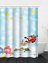 cheap -Christmas Shower Curtain Snowman Day Bathroom Decoration Waterproof with Hook