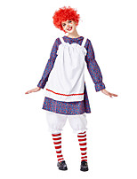 cheap -Burlesque Clown Pennywise Cosplay Costume Costume Adults' Women's Halloween Halloween Performance Halloween Festival / Holiday Terylene Purple / Blue Women's Easy Carnival Costumes Solid Color / Wig