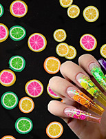 cheap -1000 pcs 3D Fruit Tiny Slices Stickers Nail Decals Mixed Style Polymer Clay Nail Art Decorations Design Nail Tips Professional Supplies