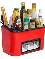 cheap -Kitchen Supplies Organizer Rack Multi-function Spice Storage Box Condiment Bottle Storage Rack Tool Knife Holder Shelf
