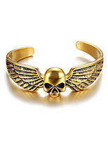 cheap -Men's Cuff Bracelet Geometrical Skull Vintage Titanium Steel Bracelet Jewelry Silver / Golden For Halloween Daily Carnival Festival