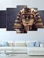 cheap -5 Panels Wall Art Canvas Prints Painting Artwork Picture Landscape Ancient Egyptian Pharaoh Home Decoration Decor Rolled Canvas No Frame Unframed Unstretched