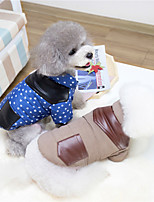 cheap -Dog Cat Sweatshirt Stripes Solid Colored Stripes Dailywear Casual / Daily Dog Clothes Puppy Clothes Dog Outfits Warm Blue Costume for Girl and Boy Dog Padded Fabric XXL