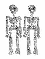 cheap -Women's Drop Earrings Earrings Classic Skull Fashion European Imitation Diamond Earrings Jewelry Silver For Halloween 1 Pair