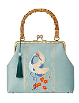 cheap -Women's Bags Polyester Evening Bag Chain Embroidery Vintage Party / Evening Office & Career Retro Evening Bag Chain Bag Blue