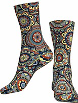 cheap -Socks Cycling Socks Men's Women's Bike / Cycling Breathable Soft Comfortable 1 Pair Graphic Cotton Blue S M L / Stretchy