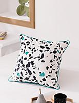 cheap -Nordic Terrazzo Printing Pillow Case Velvet Digital Printing Cushion Piping Tassel Waist Backrest