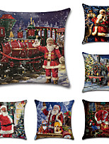 cheap -Christmas Double Side Cushion Cover 6PC Soft Decorative Square Throw Pillow Cover Cushion Case Pillowcase for Bedroom Livingroom Superior Quality Machine Washable Indoor Cushion for Sofa Couch Bed Chair