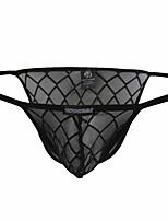 cheap -Men's Mesh Basic Simple Pure Color Sexy Panties Briefs Underwear Micro-elastic Low Waist Black M / Fashion