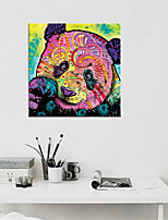 cheap -Wall Art Canvas Prints Animal Home Decoration Decor Rolled Canvas No Frame Unframed Unstretched