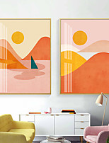 cheap -Wall Art Canvas Prints Painting Artwork Picture Landscape Mount Sunset Home Decoration Decor Rolled Canvas No Frame Unframed Unstretched