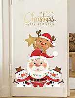 cheap -Christmas Cartoon Wall Stickers Bedroom Living Room Pre-pasted PVC Home Decoration Wall Decal 1pc