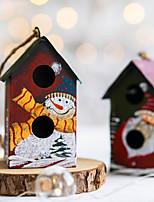 cheap -Santa Claus Snowman Pendant Christmas Tree Decoration Pendant Christmas Iron House Pendant