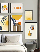 cheap -Wall Art Canvas Prints Painting Artwork Picture Abstract Sun Home Decoration Decor Rolled Canvas No Frame Unframed Unstretched