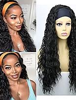cheap -Water Wave Headband Wigs for Black Women Wavy Curly Headband Wigs for Women Synthetic Hair Water Wave Headband Wigs Natural Black Headband Wigs for Women