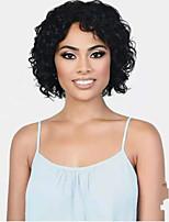 cheap -Human Hair Wig Short Curly Pixie Cut Natural Women Sexy Lady New Capless Brazilian Hair Women's Natural Black #1B 10 inch 12 inch 14 inch