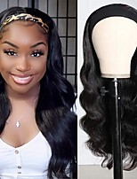 cheap -Body Wave Headband Human Hair Wig Glueless None Lace Front Wig Brazilian Virgin Hair Wear and Go Wig for Black Women 150% Density 12-30inch