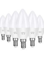 cheap -6pcs 6 W LED Candle Lights 550 lm E14 C37 20 LED Beads SMD 2835 Decorative Warm White Cold White 110-130 V