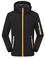cheap -Men's Hiking Fleece Jacket Fleece Winter Outdoor Thermal Warm Waterproof Windproof Fleece Lining Outerwear Winter Jacket Trench Coat Fishing Climbing Running Yellow Royal Blue Orange Black Red