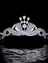 cheap -Retro Royal Hair Accessories High-end Copper Zircon Crown Bridal Wedding Headdress Crown Wedding Accessories