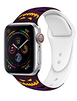 cheap -Smart Watch Band for Apple iWatch 1 pcs Sport Band Halloween Printed Bracelet Silicone Replacement  Wrist Strap for Apple Watch Series 7 / SE / 6/5/4/3/2/1