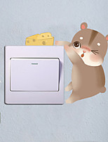 cheap -cute hamster switch stickers wall stickers living room bedroom warm creative socket small fresh decorative stickers self-adhesive painting