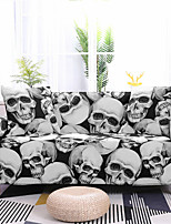 cheap -Skull Printed Stretch Sofa Cover Slipcover Elastic Sectional Couch Furniture Protector Fit Armchair Loveseat 4 or 3 seater for Halloween Decoration Holiday Decor