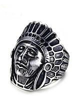 cheap -Men Ring Geometrical Silver Titanium Steel Head Vintage 1pc / Men's