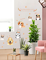 cheap -creative hand-painted dog wall stickers cute children's bedside bedroom decoration dog wall stickers