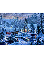 cheap -Wall Art Canvas Prints Painting Artwork Picture Christmas Landscape Home Decoration Decor Rolled Canvas No Frame Unframed Unstretched