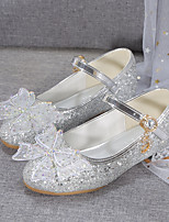 cheap -Girls' Heels Flower Girl Shoes Formal Shoes Princess Shoes School Shoes Rubber PU Portable Non Slip Cute Dress Shoes Big Kids(7years +) Little Kids(4-7ys) Daily Party & Evening Walking Shoes