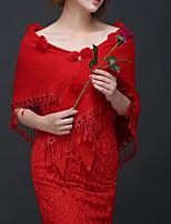 cheap -Half Sleeve Elegant Imitation Cashmere Party Evening / Wedding Party Women's Wrap With Tassel / Pom-pom