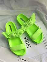 cheap -Women's Sandals Flats Flat Heel Home Daily PVC Solid Colored Yellow Red Pink