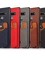 cheap -Phone Case For LG Back Cover Stylo 6 Card Holder Shockproof Dustproof Color Gradient PU Leather