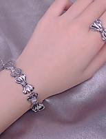 cheap -Women's Drop Earrings Necklace Earrings Classic Artistic Fashion Punk Korean Sweet Silver Plated Earrings Jewelry Silver For Street Gift Daily Work Festival 1pc / Ring