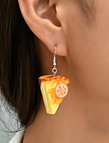 cheap -Women's Earrings Geometrical Pizza Statement Stylish Simple Earrings Jewelry Light Yellow For Street Carnival Prom Festival 2pcs