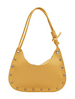 cheap -Women's Bags PU Leather Daily Work Tote Yellow Black Brown Beige