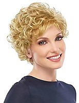 cheap -Short Blonde Wig Short Curly Fluffy Wig for Women Synthetic Heat Resistant Hair Replacement for Daily Party Halloween